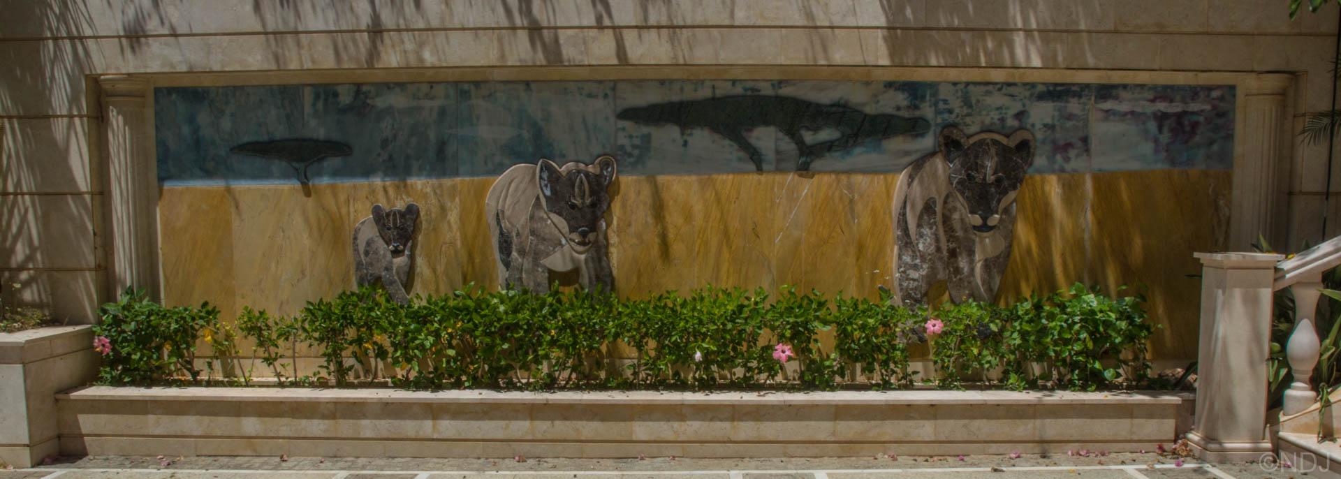 Mural diseño leones